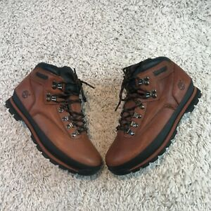 Timberland Mens Shoes UK 8 Eur 42 Brown Leather Ankle Boots