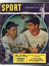 Sept SEPTEMBER 1947 SPORT Magazine w/ JOE DiMAGGIO cover Jackie Robinson