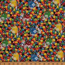 M&M Friends Candy Cartoon Food Colorful Cotton Fabric Print by Yard D564.05