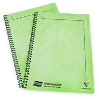 2 X Clairefontaine Europa Notemaker Notebook - A4 - 90gsm -120 Pagine - Lime