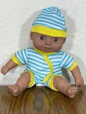 "Gi-Go Toys My Pals Bean Bag Kids Vinyl Baby Doll 8"" Happy Expression Sleeper Cap"