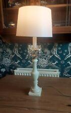 vintage onyx marble table lamp