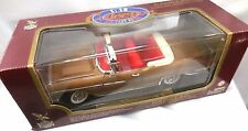 Road Legend 1958 Cadillac Eldorado Biarritz GOLD Metal Die Cast Car 1/18 Box New