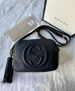 AUTHENTIC GUCCI SOHO DISCO BAG IN BLACK LEATHER RRP$1685