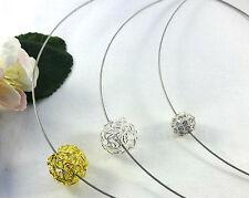 Runde Beauty Modeschmuck-Halsketten & -Anhänger aus Strass