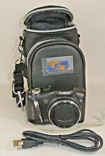 Canon PowerShot SX130 IS 12.1MP Digital Camera - Black - New Case