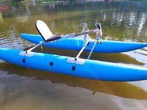 Water Bike Pontoon Catamaran Pedal Paddle Boat Hydro Water Kayak