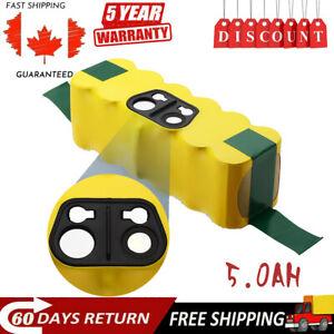 Upgrade 5.0Ah 14.4V NI-MH Battery For iRobot Roomba 500 600 650 700 800 595 620
