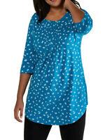Shirt Longshirt Bluse Tunika blau Ulla Popken 42 44 46 48 50 52 54 56 58 60 66