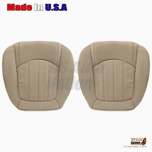 2008 to 2012 Buick Enclave DRIVER & PASSENGER Bottom Perforated VINYL Cover Tan