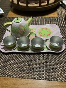 Schylling 15 pc. Metal Tea Set Kids Childrens Toy