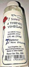 Four Thieves Vinegar WHITE CLEAR 4 Fl Oz To Make Enemies Go Away 7 Sisters