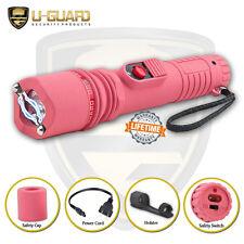 Pink Stun Gun Rechargeable Women Self Defense Weapon High Volt Guard Dog Inferno