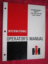 1979 INTERNATIONAL HARVESTER CADET 182, 282, & 382 LAWN TRACTOR OPERATORS MANUAL