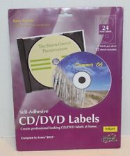 NEW Printer Creation Inkjet Self-Adhesive Cd/DVD Labels 2 Labels/Sheet 12 Sheets