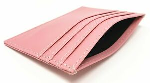 """NEW Mens & Womens Slim Leather Wallet ID Card Holder Open Money Pocket (3"""" X 4"""")"""