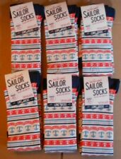6 PAIRS SEASALT BAMBOO WOMENS LONG SAILOR SOCKS SIZE 3-8 UK  ANCHOR SUNSTONE