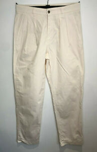 BNWT MHL Margaret Howell blush cotton twill pleat front chino trousers Small S