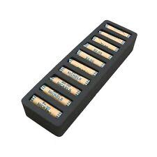 Rolled Coin Storage Organizer Nickels Home Office Black 2 Nickel Holder Tray