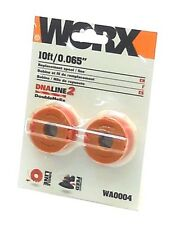 Pack of 2 10' WORX Works Trimmer Replacement Helix Line Spool Weed Whip WA0004