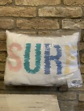New Pottery Barn Kids Embroidered Surf Pillow