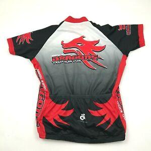 Hong Kong Dragons Triathlon Club Cycle Jersey Womens Large Shirt Full Zip Raglan