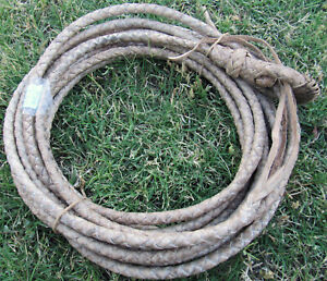 """New Rawhide Rope (Lariat, Reata) Handmade in Sonora, MX. 28' 4""""; 1/2 inch thick"""