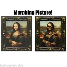 Large MONA LISA Morphing Changing Portrait Frame Lenticular Morph Halloween Prop