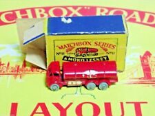Scarce 1955 Issue Matchbox Lesney #11 Esso Road Tanker With Side Decals Boxed