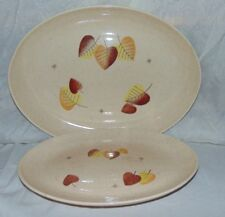 2 Vernonware Metlox Pottery Sherwood Mid Century Modern Coupe Platters