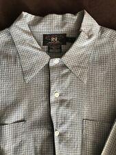 RRL Work Shirt - Blue & White - XXL