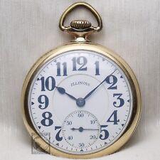 Gold 1923 Illinois Bunn Special 21 Jewel RAILROAD Grade Pocket Watch 16s USA