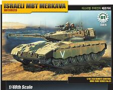 Academy 1/48 Israeli MBT Merkava 2ch RC Motorized Tank Plastic Model Kit 13307