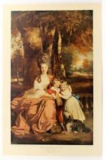Vintage SIR JOSHUA REYNOLDS Traditional Lady Delme Children portrait LITHO #341T