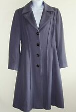 New Womens Bernini Jacket Sz M Lavender Three Button Trench Coat