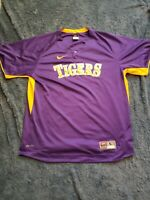 Men's Nike NCAA  Jersey LSU Tigers Purple Large