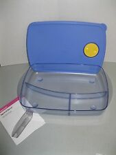 TUPPERWARE ~ ROCK N SERVE LARGE SHALLOW DIVIDED DISH ~ BLUE ~ NEW