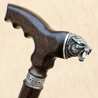 Fashionable Walking Cane Stick NORSE CELTIC BEAR Oak Wood Handmade - ANY LENGTH