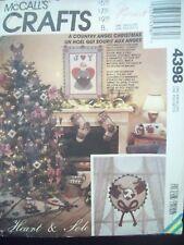McCalls Pattern 4398 Christmas Angel  Tree Skirt Mailbox Stocking Ornaments