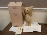"New Ltd Edn 4000 Steiff  20"" 52CM c.2004 Old Gold Mohair Jointed Bear +Box & COA"