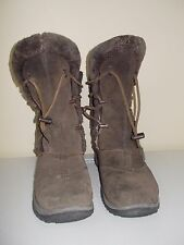 Baffin Kamala brown womens fur winter boots shoes size 6 USED