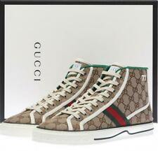 NEW GUCCI GG GUCCISSIMA CANVAS WEB TENNIS 1977 HIGH TOP SNEAKERS SHOES 9/US 9.5