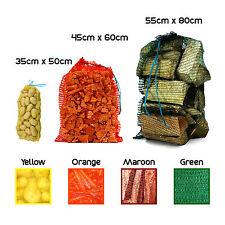 More details for strong net woven sacks logs kindling wood log vegetables mesh bags - multipacks