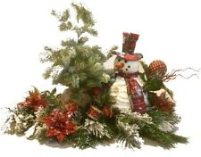 "Snowman Centerpiece Arrangement Christmas Winter  24"" Long"