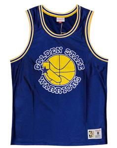 Golden State Warriors Jersey Men's Mitchell & Ness Basketball Dazzle Jersey -New