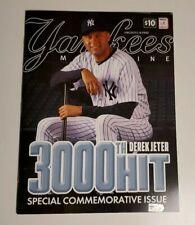 Official Yankees Baseball MLB Program; Commemorating Derek Jeter's 3000th Hit!