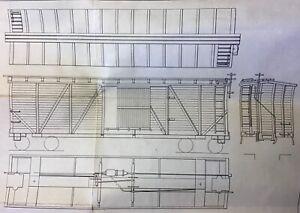 NorthEastern Scale Models Inc., 40 Foot Single Sheathed Boxcar Kit,  HO Scale.