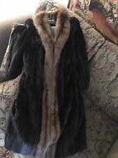 Mink Sable Tuxedo Fur Coat