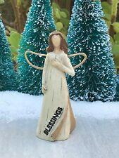 Miniature FAIRY GARDEN Figurine Mini Rustic Memorial Sentiment BLESSINGS Angel