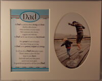 Dad Keepsake Photo Frame Mount to take 6 x 4 inch photo 20.25cm x 25.5cm